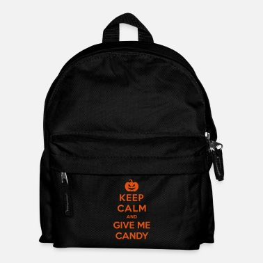 Bruja Keep Calm Give Me Candy - - Halloween divertido - Mochila infantil