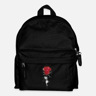 Valentines Day Drawing of a red rose - Kids' Backpack