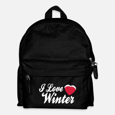 Xmas I love winter with heart 2c - Mochila infantil