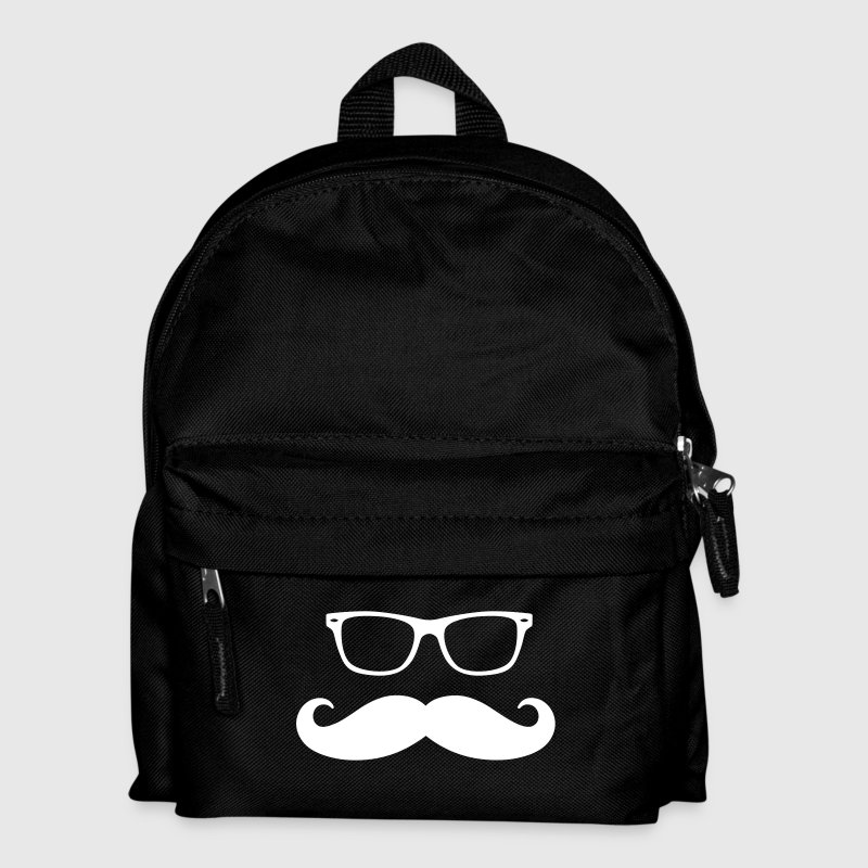 geek glasses & moustache - Kids' Backpack