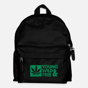 Cannabis young wild and free weed leaf boxed - Rygsæk til børn