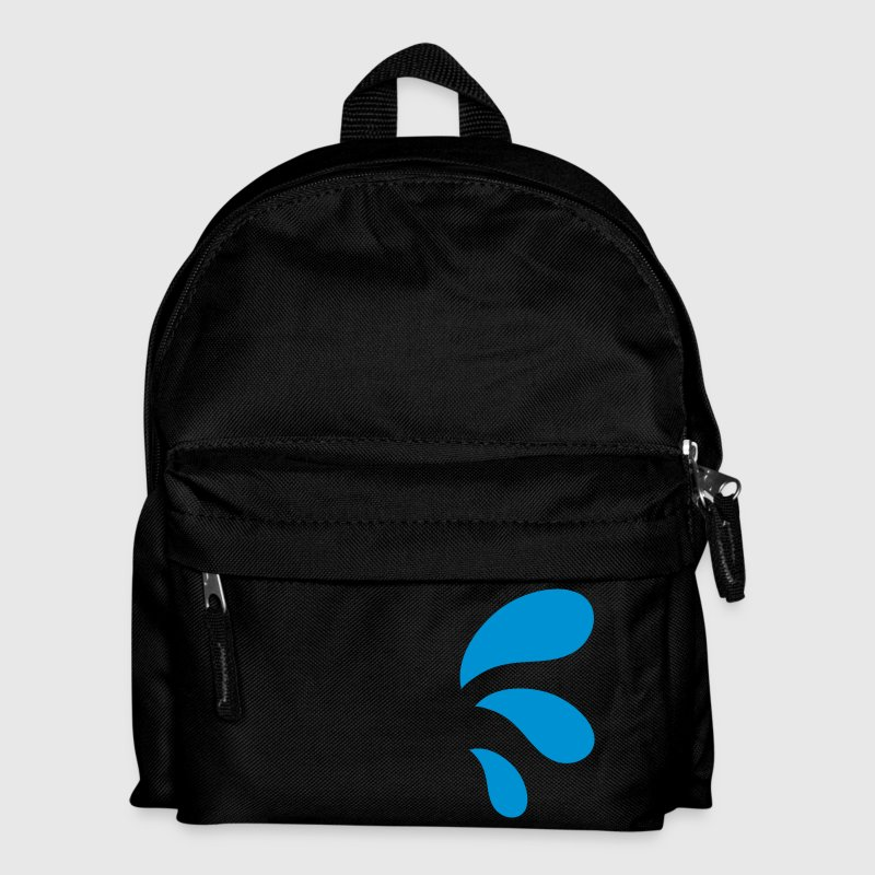 three curvy water blue droplets - Kids' Backpack