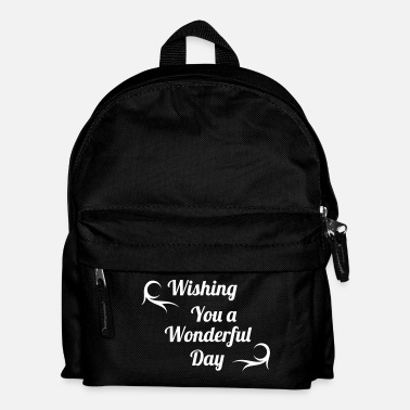 Mañana wonderful day - Mochila infantil