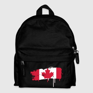 painted flag of Canada  - Kids' Backpack