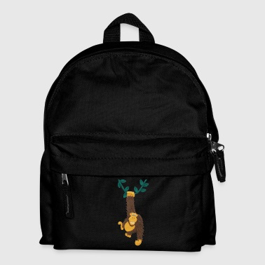 Gorilla swinging on vine - Kids' Backpack