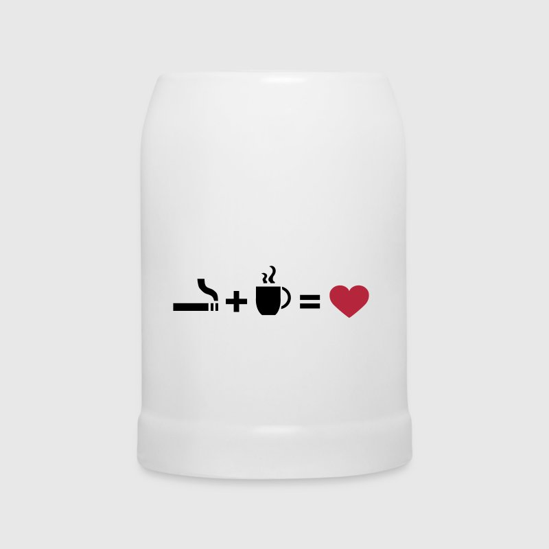 ASCII Symbols Love, cigarettes, coffee, love, www.eushirt.com - Beer Mug