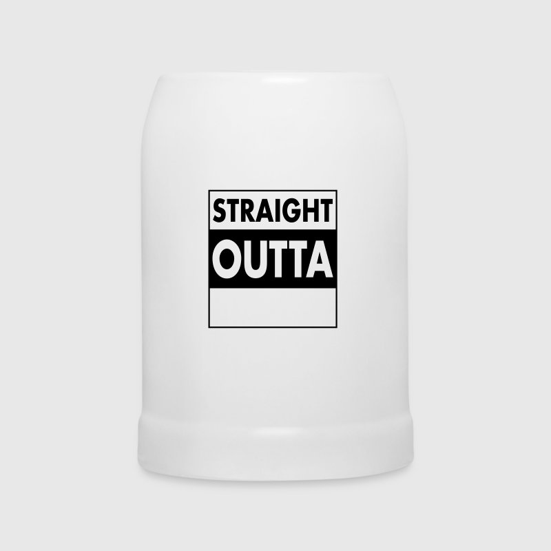 Straight Outta - Your Text (Font = Futura) - Beer Mug