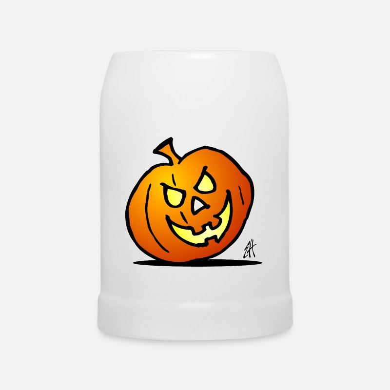 Trick Or Treat Mugs et gourdes - Jack-o'-lantern, citrouille d'Halloween - Chope blanc