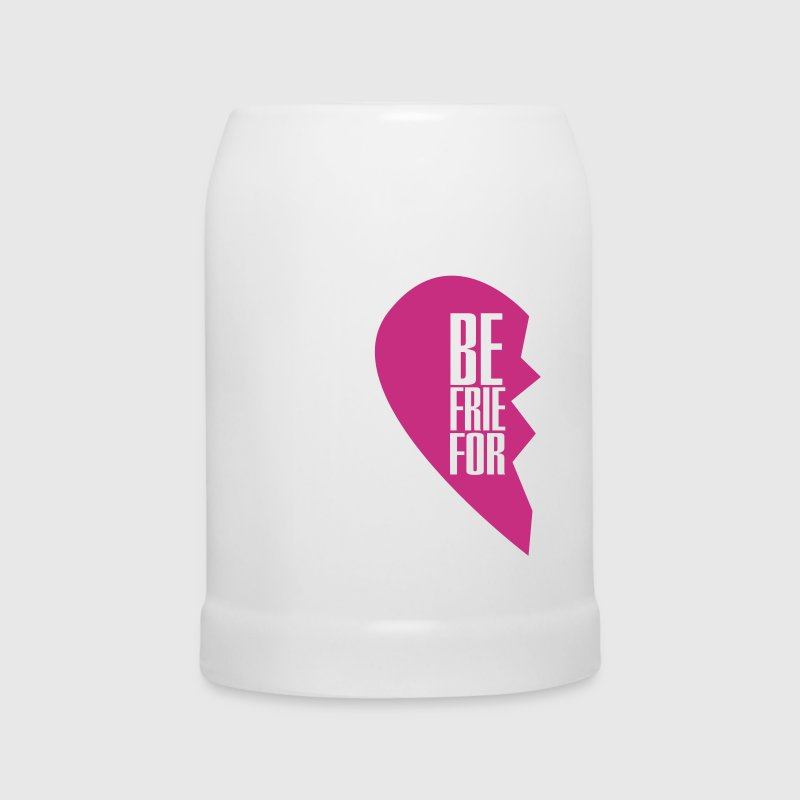 best friends forever left heart side - Beer Mug