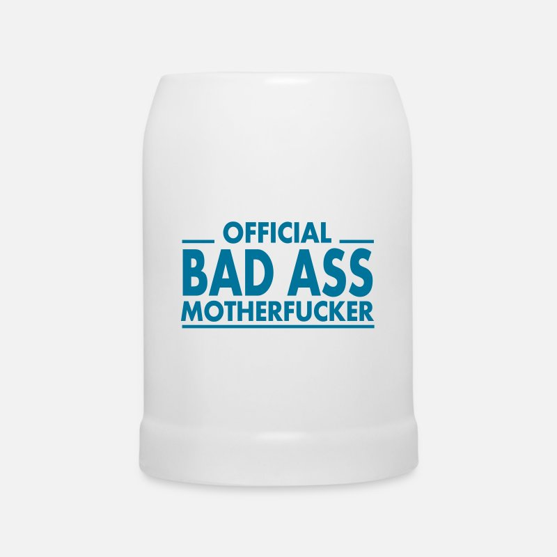 Bestsellers Q4 2018 Mugs & Drinkware - official bad ass motherfucker / badass - Beer Mug white