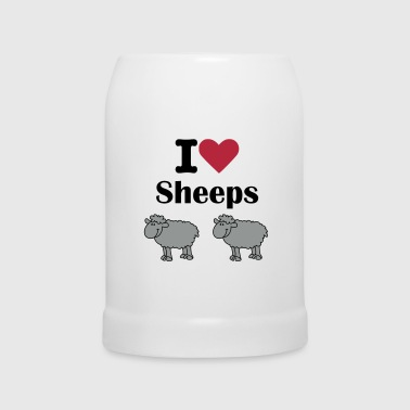 I-love-sheeps - Chope en céramique