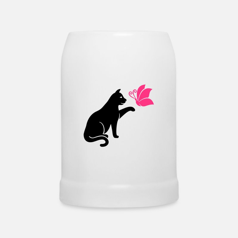 Chat Mugs et récipients - Chat - Chope blanc