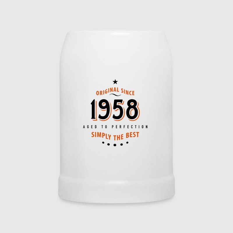 original since 1958 simply the best 60. Geburtstag - Bierkrug
