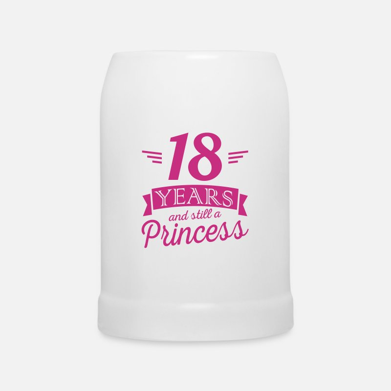 Anniversaire 18 Ans Mugs et gourdes - 18 years and still a princess - Chope blanc