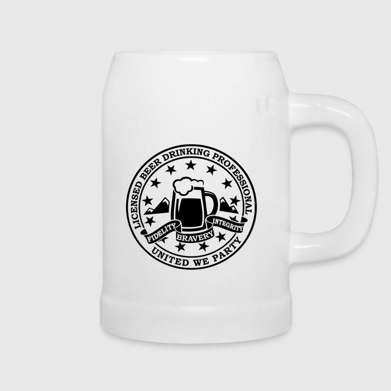 Funny i love beer drinking party and hell raising license badge emblem t-shirts for clubbing stag do partying st patrick - Beer Mug