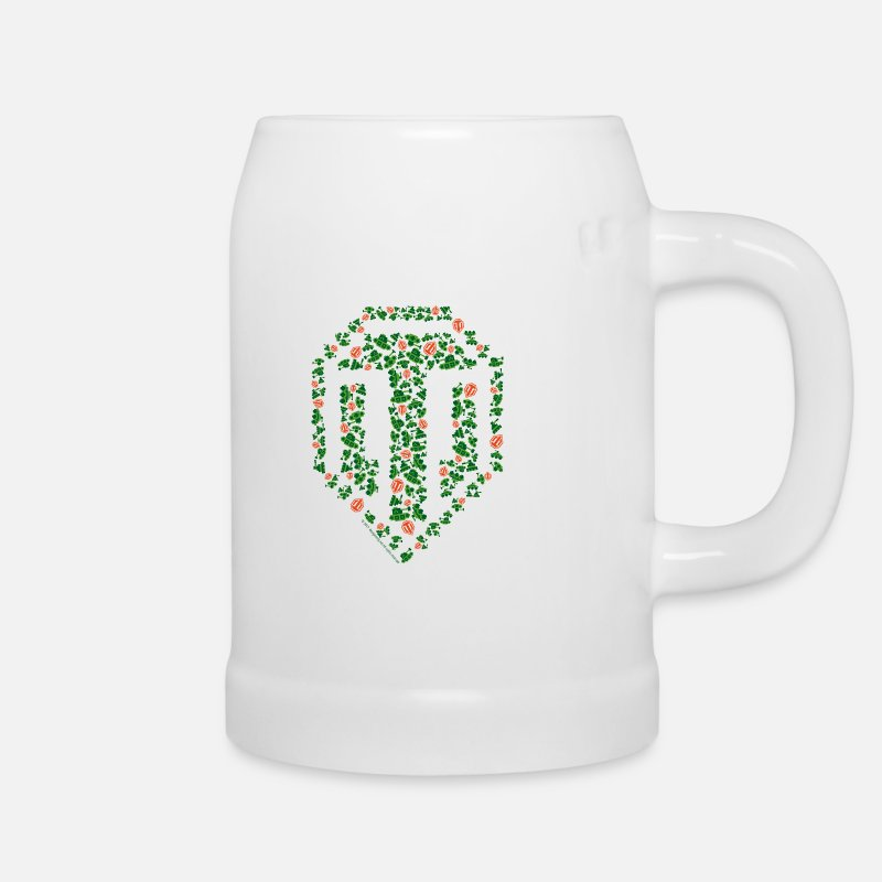 World Of Tanks Mukit ja tarvikkeet - World of TanksLogo aus Panzern Beer Mug - Oluttuoppi valkoinen