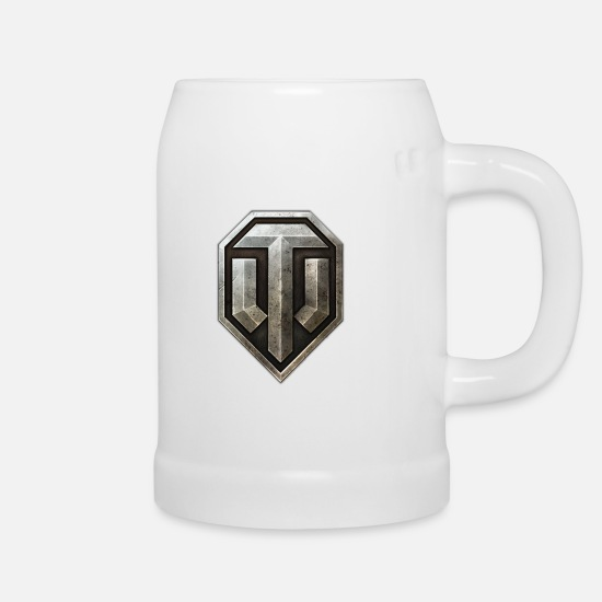 World Of Tanks Kubki i dodatki - World of Tanks Logo - Kufel do piwa biały