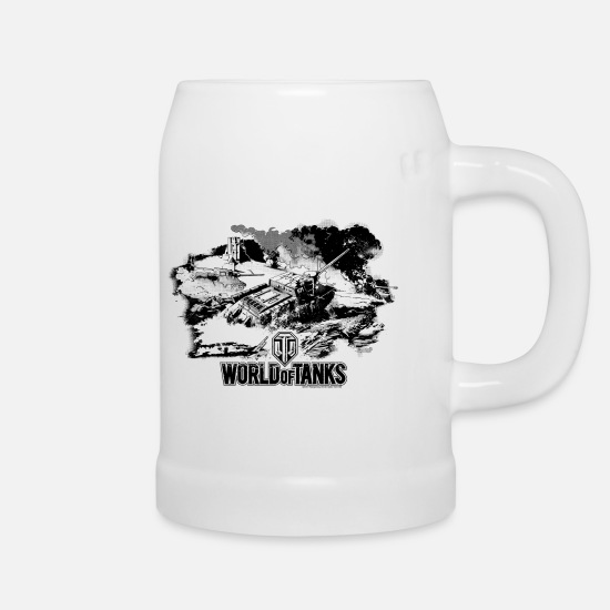 World Of Tanks Mugs & Drinkware - World of Tanks - Battlefield black - Beer Mug white
