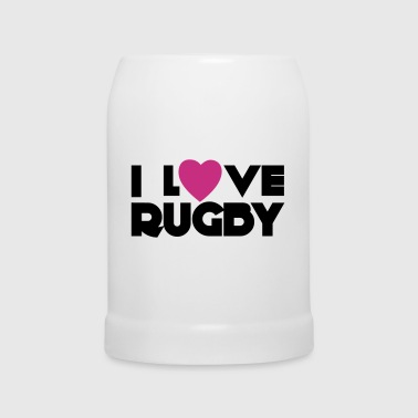 I Love Rugby - Chope en céramique