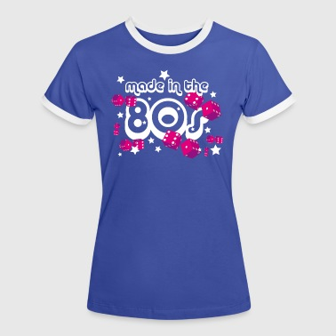 Made in the 80s - Frauen Kontrast-T-Shirt