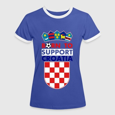 Support Croatia - Women's Ringer T-Shirt