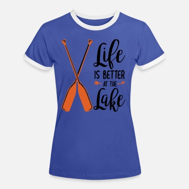 Laken lake - Frauen Ringer T-Shirt