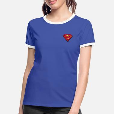 S-shield Superman kleines Logo S-Shield - Frauen Ringer T-Shirt