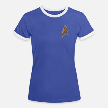 Fasching Star Trek Delta Abzeichen Uniform - Frauen Ringer T-Shirt