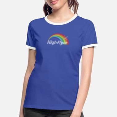 High Fliers The High Flyer Rainbow Collection - Women's Ringer T-Shirt