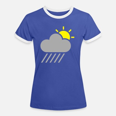 Weather weather symbol - sun could rain - Women's Ringer T-Shirt