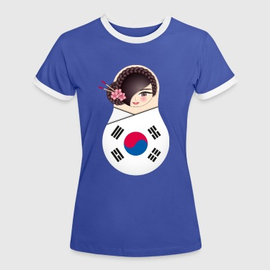 Matroschka Nuri - Team Korea - Frauen Kontrast-T-Shirt