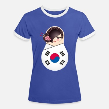 Korea Matroschka Nuri - Team Korea - Frauen Ringer T-Shirt