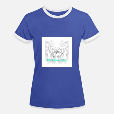 Retro Look Schmetterling, Butterfly im retro look. - Frauen Ringer T-Shirt