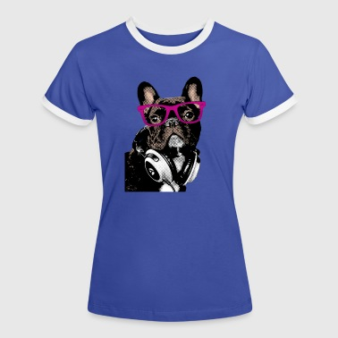 AD Hipster Frenchie - T-shirt contrasté Femme