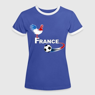 football france 08 - T-shirt contrasté Femme
