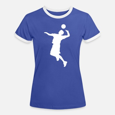 Volley Volley Sillhouette - Women's Ringer T-Shirt