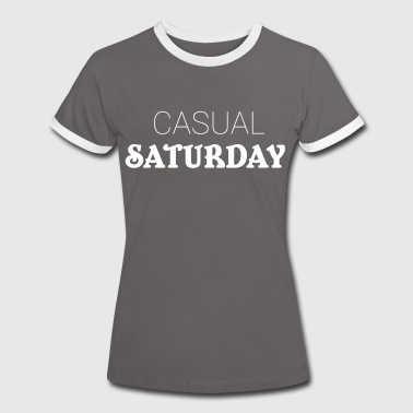 Casual Saturday - Camiseta contraste mujer