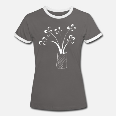 Vase Bouquet with vase - Women's Ringer T-Shirt