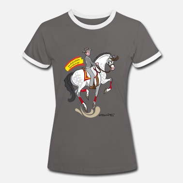 Andalusian horselover grey - Women's Ringer T-Shirt