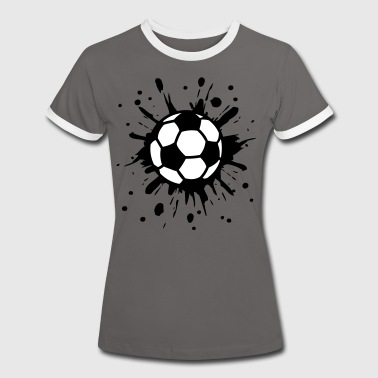 Football, Splash, Soccer, Splatter,  - Women's Ringer T-Shirt