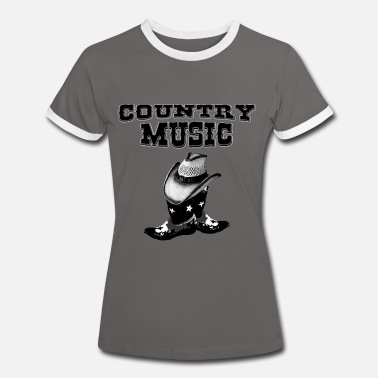 Country Music country music - Vrouwen contrastshirt