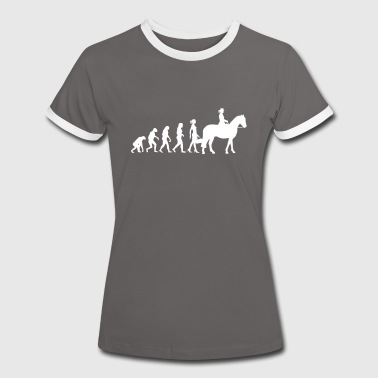 Evolution Ladies Riding - Frauen Kontrast-T-Shirt