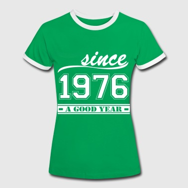 Since 1976 - Frauen Kontrast-T-Shirt