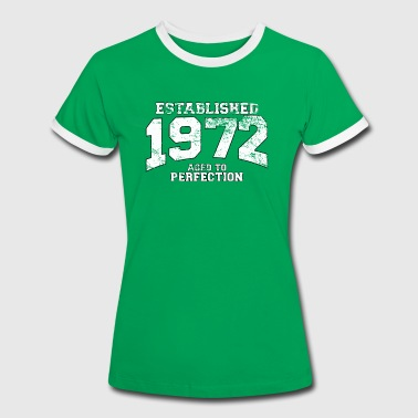 established 1972 - aged to perfection (uk) - Women's Ringer T-Shirt