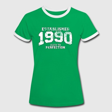 established 1990 - aged to perfection (uk) - Women's Ringer T-Shirt