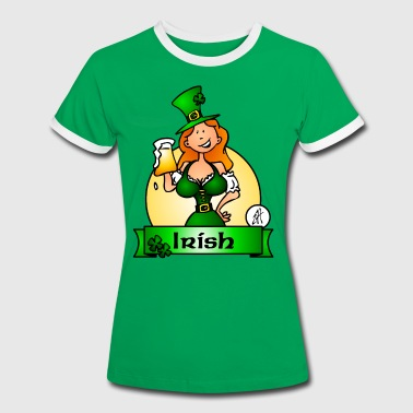 St. Patrick's Day Irish Maiden - Dame kontrast-T-shirt