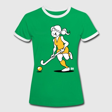 Field  hockey girl - Women's Ringer T-Shirt