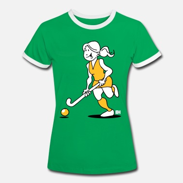 Field Hockey Girl Field  hockey girl - Women's Ringer T-Shirt