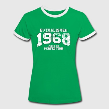 Established established 1968 - aged to perfection (sv) - Kontrast-T-shirt dam