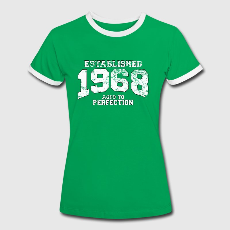 established 1968 - aged to perfection (uk) - Women's Ringer T-Shirt